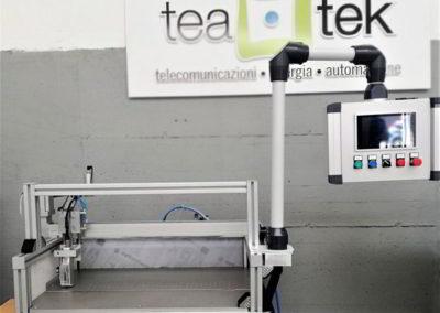 TeaTek_macchina per marcatura parti_postazione semi automatica