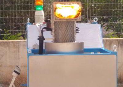 TeaTek_macchina per prove a fuoco